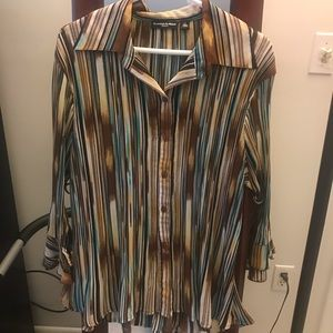 Essentials by Milano Button Down Blouse 1X